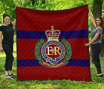 Royal Engineers Quilted Blanket