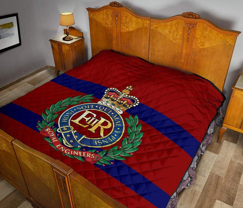 Image of quilt Royal Engineers Quilted Blanket