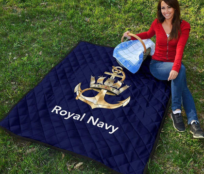 Royal Navy Quilted Blanket