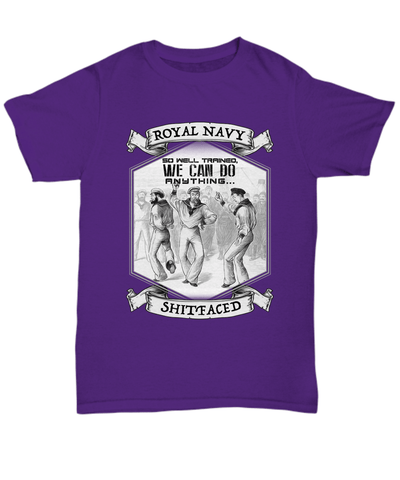 Image of Shirt / Hoodie Royal Navy So Well Trained, We Can Do Anything Shitfaced Multicolour Unisex T Shirt