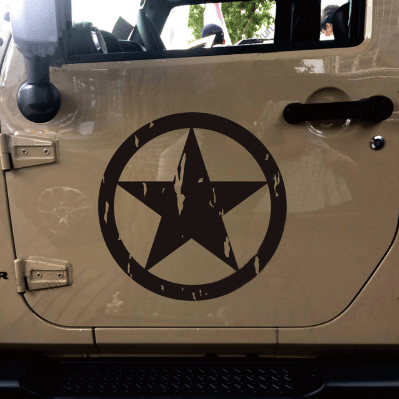 Image of sticker Distressed Army WWII Bumper Sticker