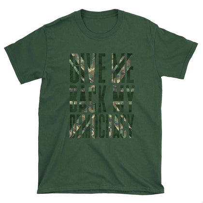 Brexit Give My Back My Democracy Camo Unisex T Shirt