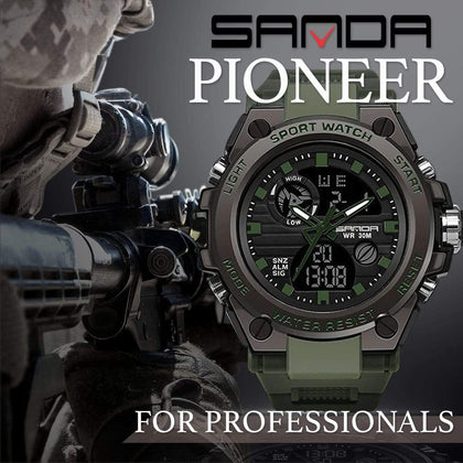 SANDA PIONEER Men's Military Watch