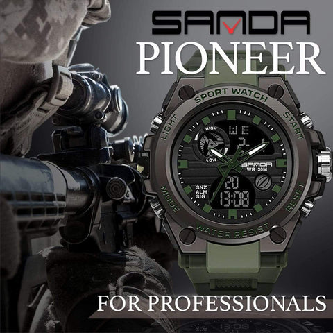 watch SANDA PIONEER Men's Military Watch