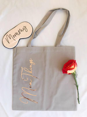 mom things tote bag