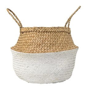 Seagrass Basket-Natural/White