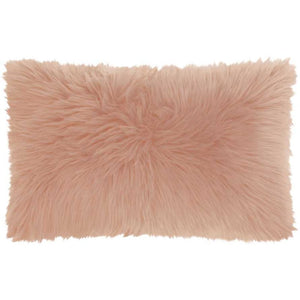 Rose Faux Fur Pillow