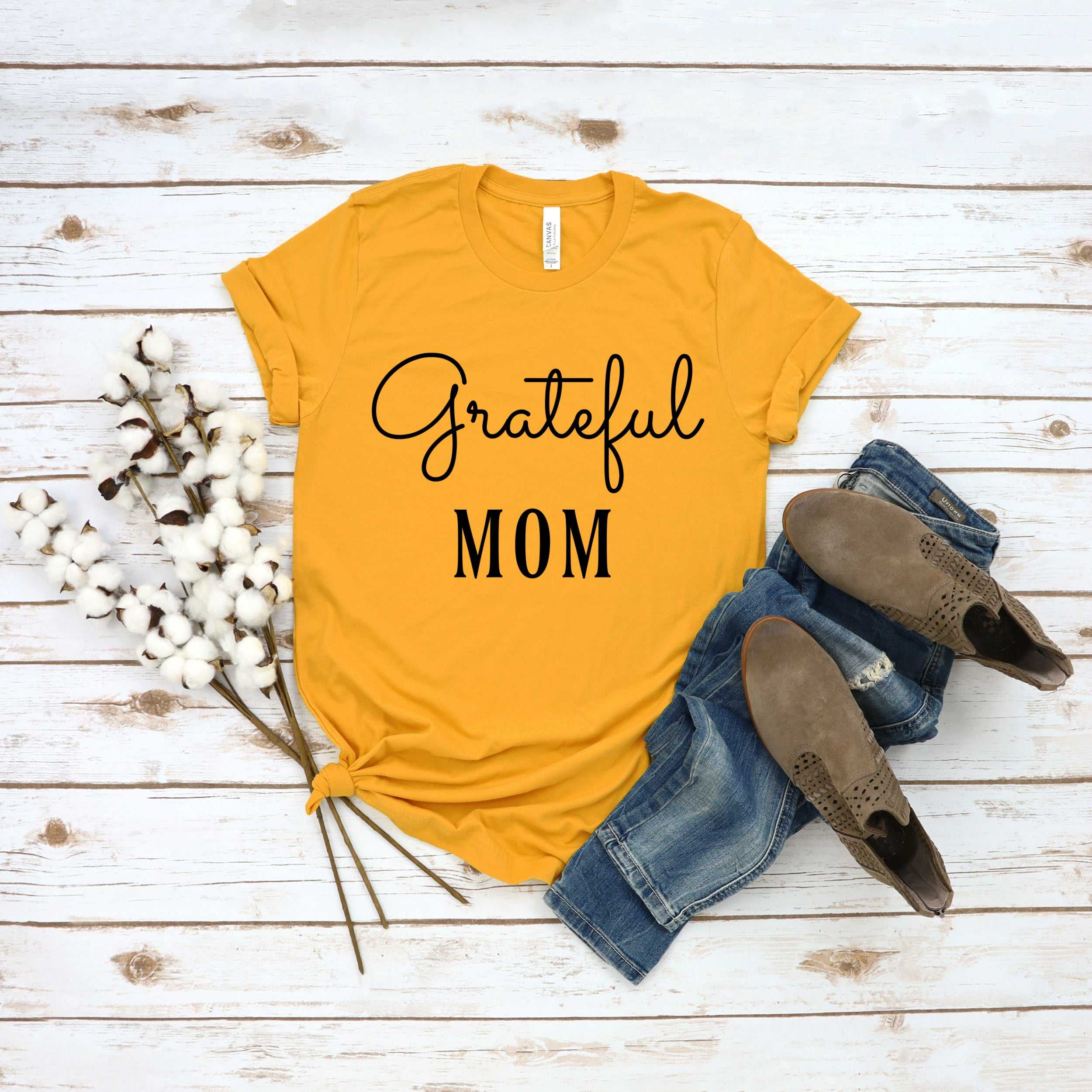 grateful mom t-shirt
