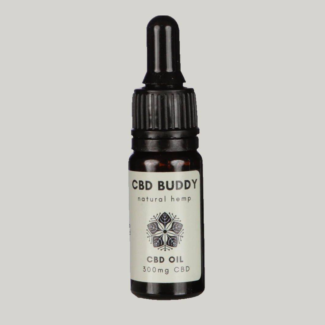 3% CBD OIL: Low strength organic CBD oil drops with 300mg CBD