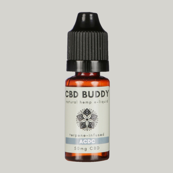 ACDC CBD VAPE: For a focused, energetic, uplifted vibe with an earthy, woody, pine aroma
