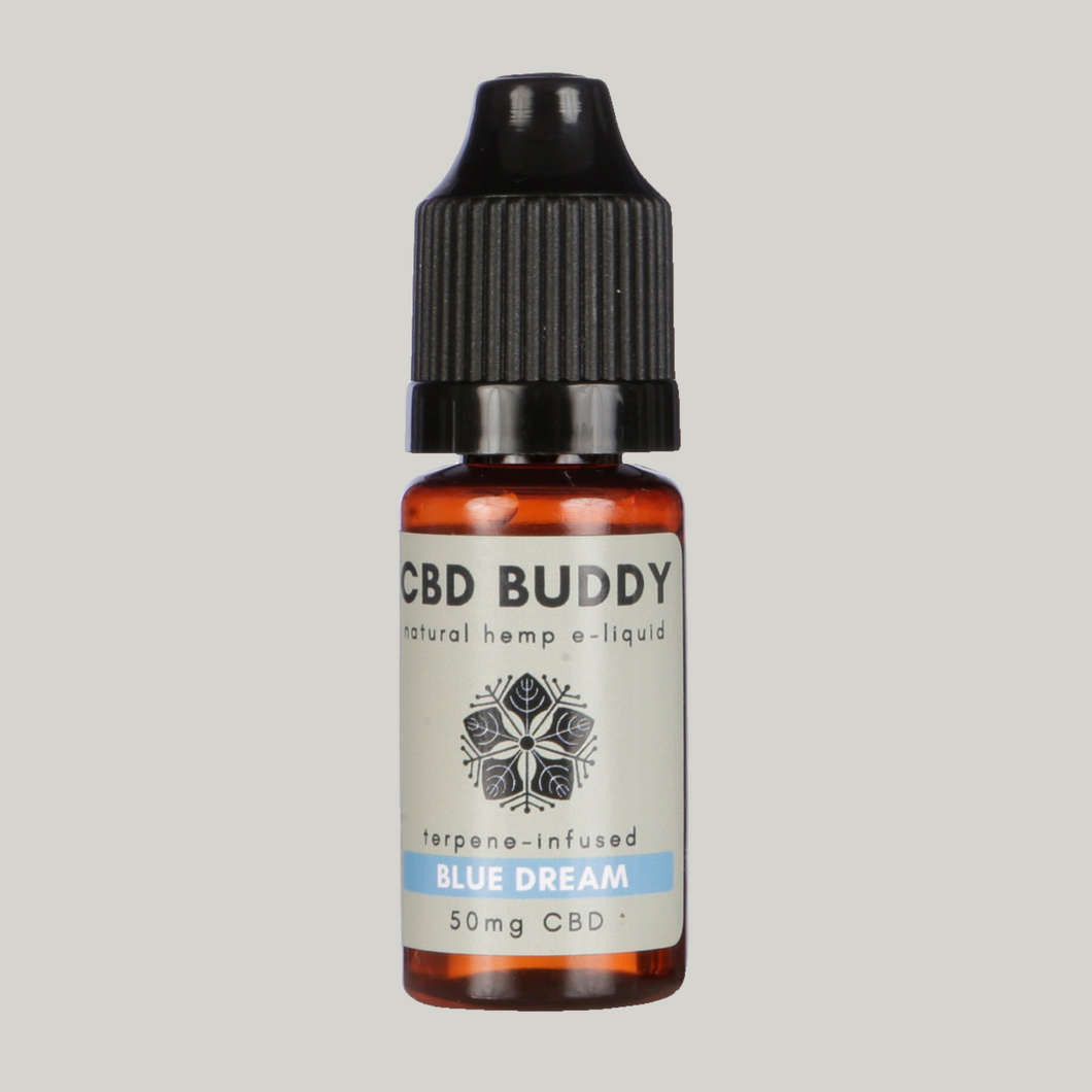 BLUE DREAM CBD VAPE: For a euphoric, uplifted, creative vibe with a sweet, blueberry aroma