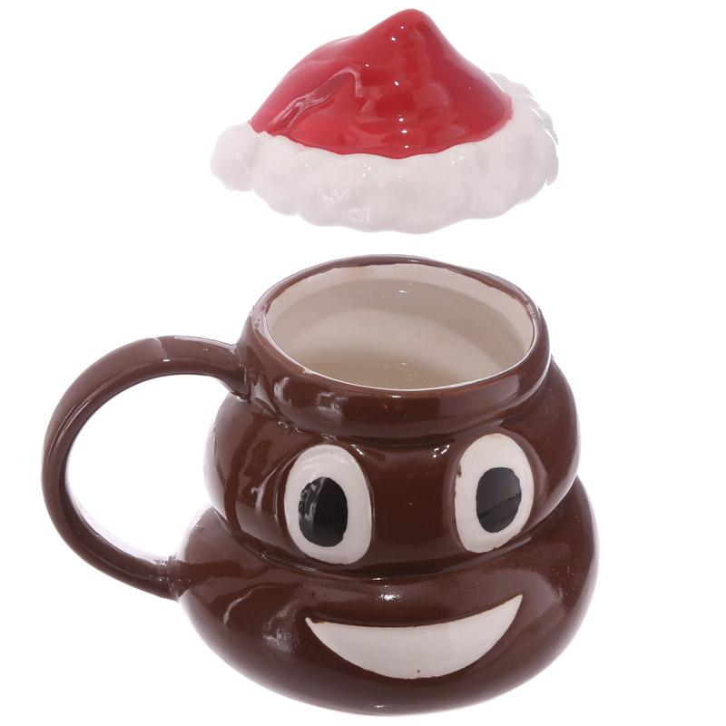 christmas smiley poop mug - Christmas Poop
