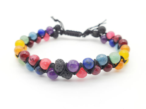 NEW** Double Strand Rainbow Bracelet ~ Adult