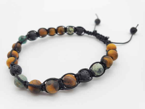 NEW** Stackable Bracelets Tiger's Eye and African Turquoise