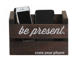 """crate your phone™"" classic brown"