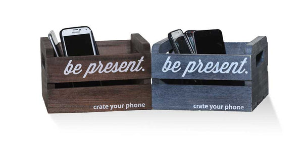 """crate your phone™"" ---one classic brown and one rustic grey"