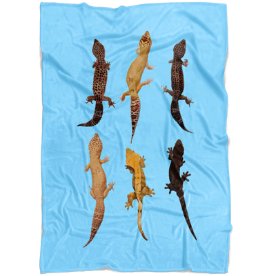 CUSTOM FLEECE BLANKET with Geckos for dogs and cats | puppy fleece blanket