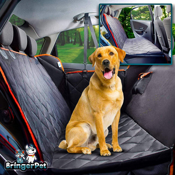 BringerPet | Dog Back Seat Cover | High-Quality Waterproof Seat Cover (Hammock Style)