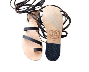 Natural Brown Gladiator Leather Sandals for Men & Women