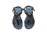 Black Inspirator Leather Sandals for Men & Women