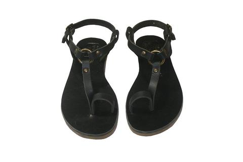 Black Storm Leather Sandals for Men & Women