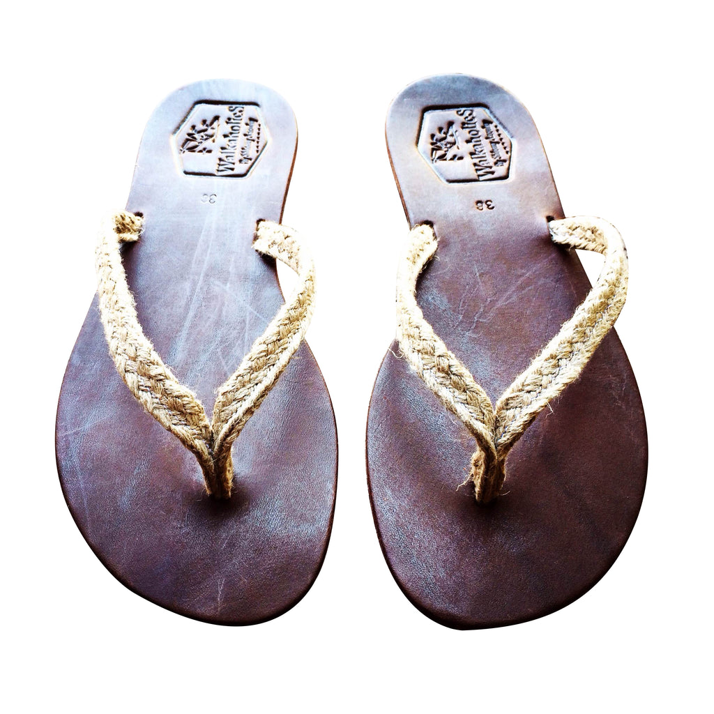 Brown Africani Leather Sandals for Men & Women
