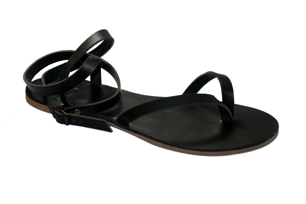 Black Swell Leather Sandals for Men & Women