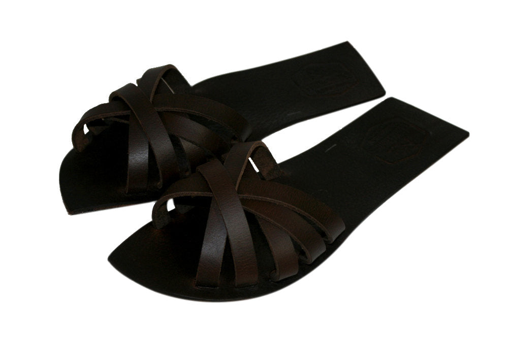Brown Alissa Leather Sandals for Men & Women