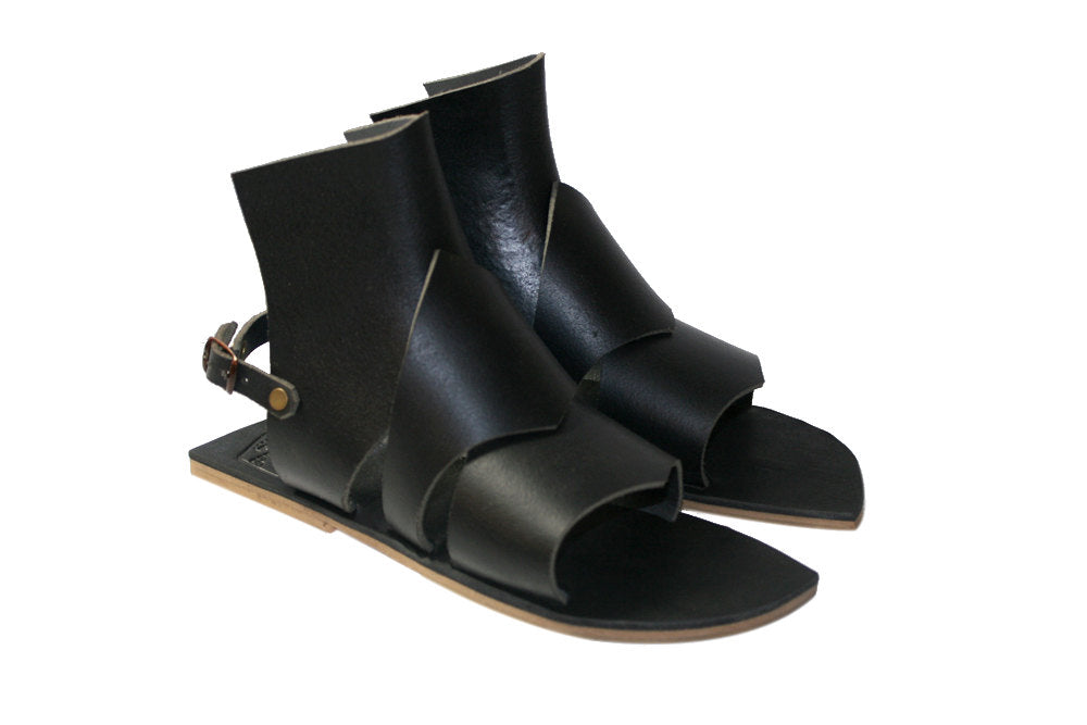 Black Rome Leather Sandals for Men & Women