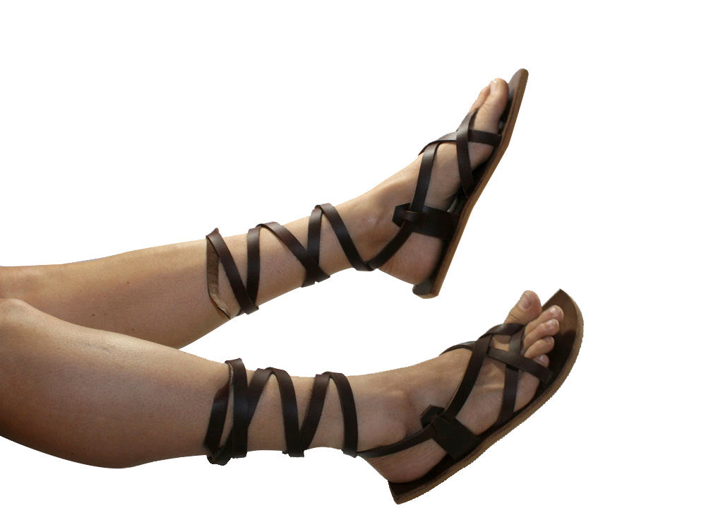 Brown Coastal Leather Sandals for Men & Women