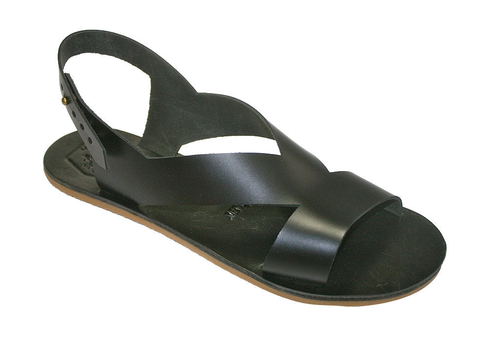 Black Perfor Leather Sandals for Men & Women