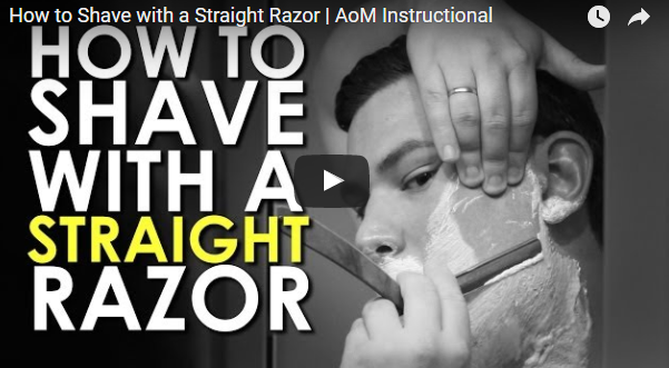 How to shave with a Straight Razor from The AoM.
