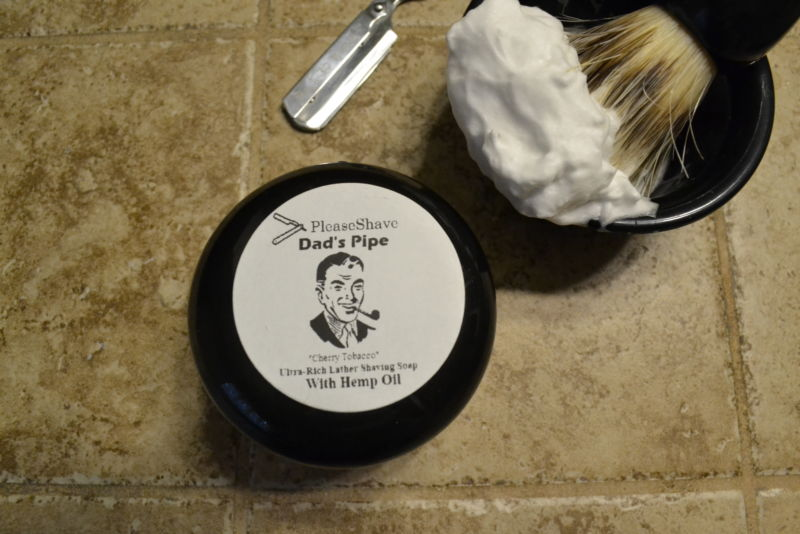 PleaseShave Ultra-Rich Lather Shave Soap With Hemp Oil (Dad's Pipe)