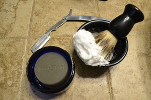 PleaseShave Ultra-Rich Lather Shave Soap With Hemp Oil (Captain's Stash)