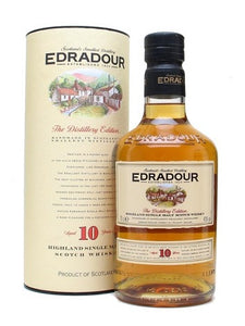 Edradour 10 Year Old Single Malt Scotch Whisky, Scotland