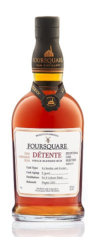 Foursquare Detente, Fine Barbados Rum, Exceptional Cask Selection Mark XII, Barbados