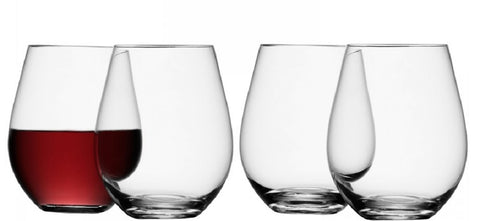 LSA Stemless Wine Glass / Tumblers - Set of 4