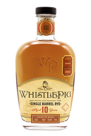 WhistlePig 10 Year Old Single Barrel Rye Whiskey Cask #20244, USA