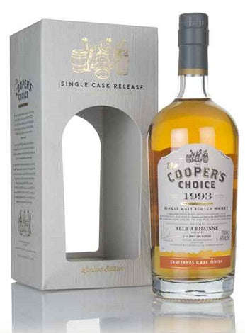 1993 Allt-á-Bhainne 25 Year Old, The Cooper's Choice, Scotland