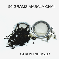 CHAIN INFUSER WITH 50 GRAMS OF MASALA CHAI TEA