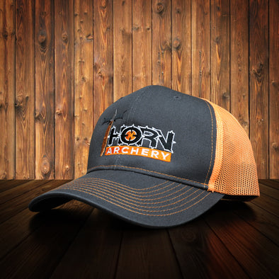 Carbon & Orange Structured Mesh Back Hat