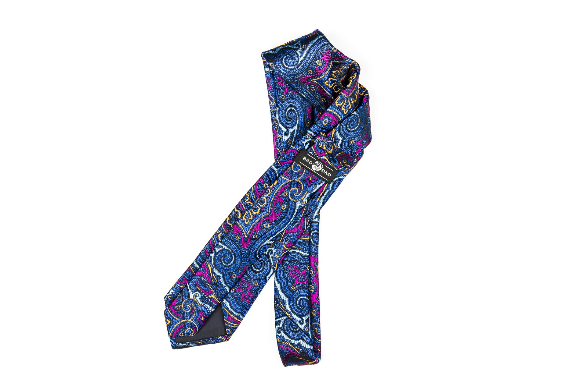 Silk Neckties - Blue Purple Paisley