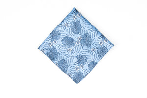 Silk Pocket Squares - Grey Flower