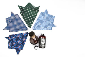 Silk Pocket Squares - Silver Square