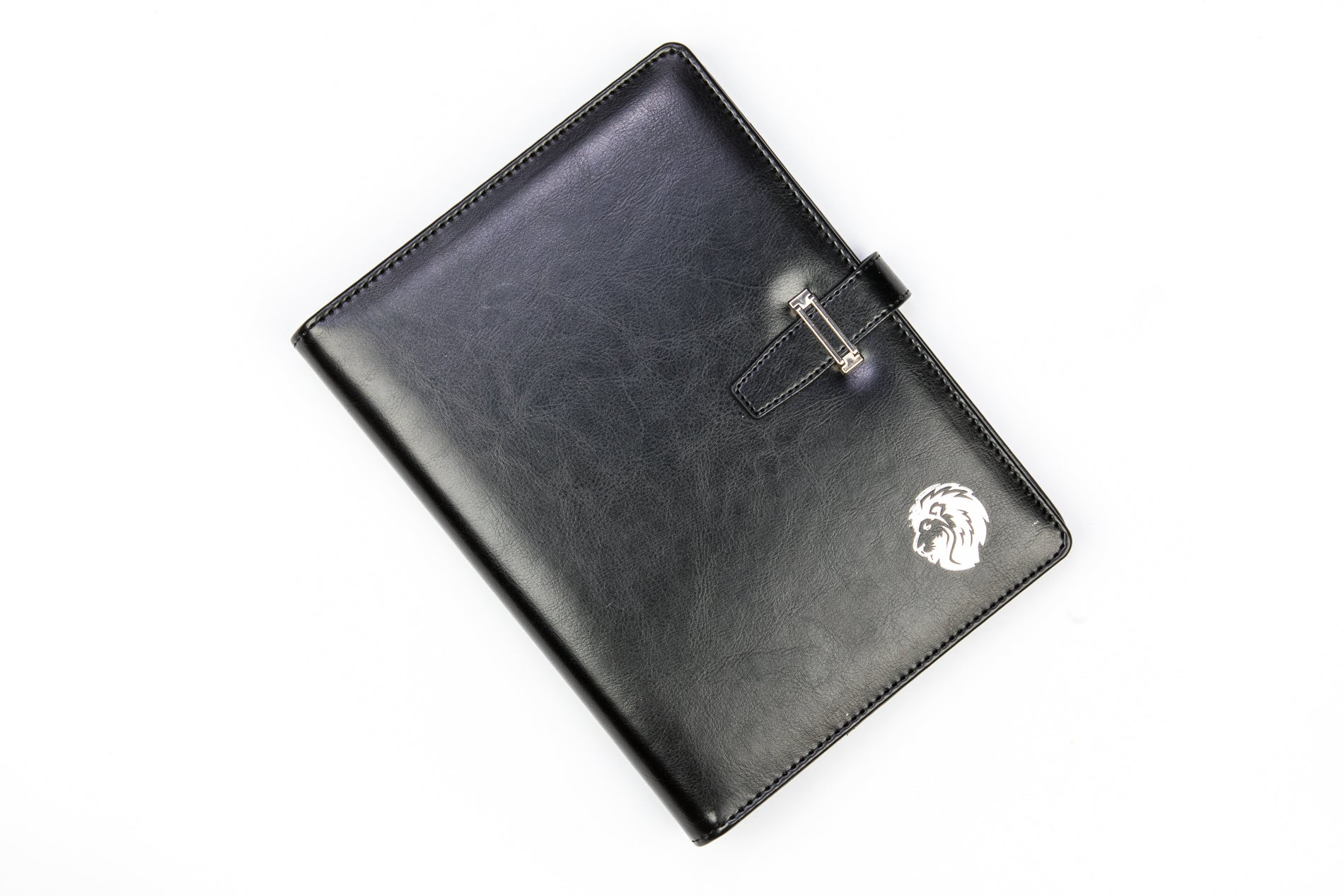 Leather Notebook with Card and Pen Holder
