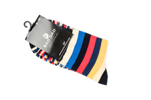 Socks - Striped Red Yellow