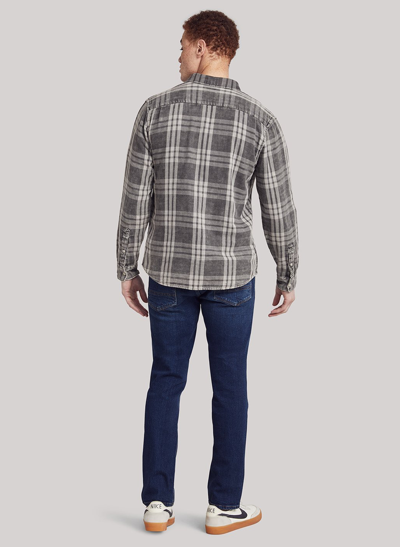 The Tony Doublecloth Shirt - Graphite Mist