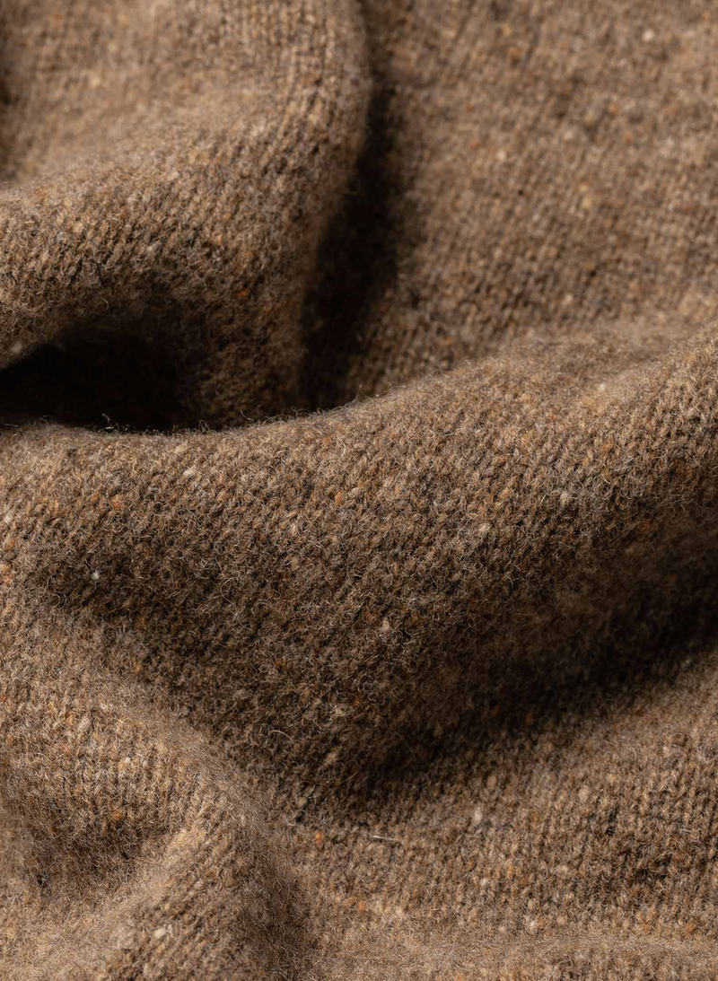 The Hardtack Sweater - Oak Donegal