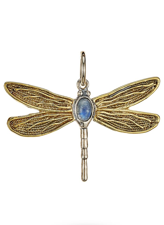 Transformative Dragonfly Moonstone Pendant