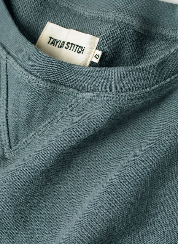 The Crewneck - Seagreen Terry